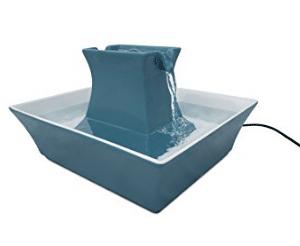 fontaine a eau pour chat Pagode bleue
